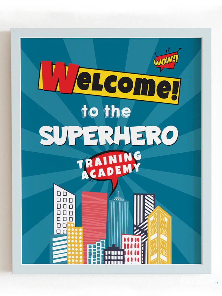 Superhero Boy Welcome Sign - Pack of 1
