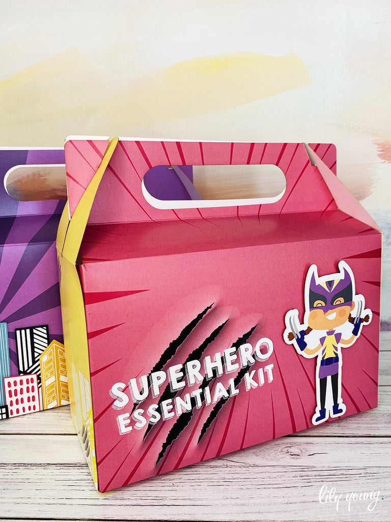 Large Superhero Girl Boxes - Pack of 12