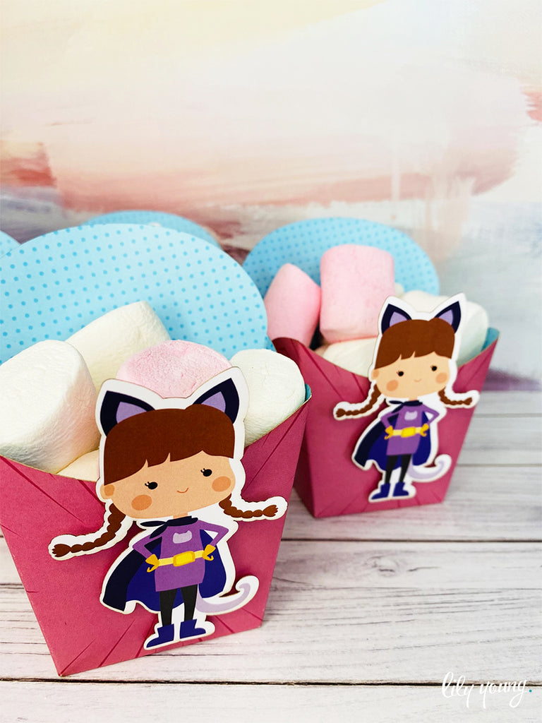 Superhero Girl Snack Bowls - Pack of 12