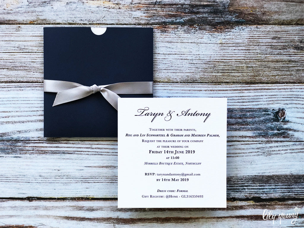 Taryn Printed Invitation Suite