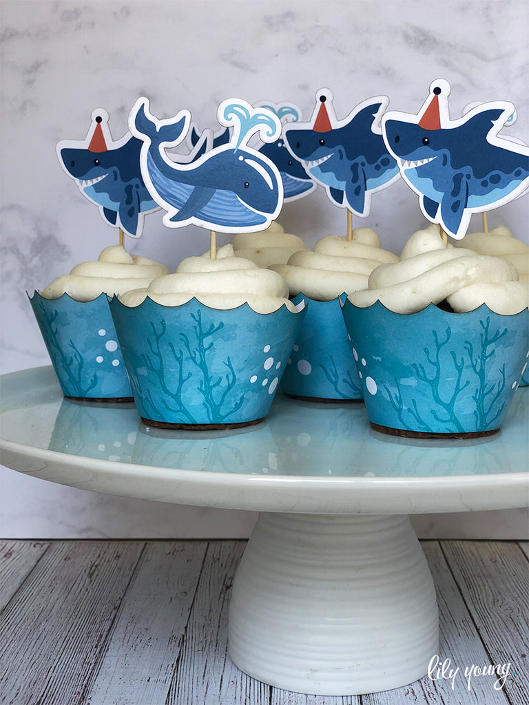 Under the sea Cupcake wrapper & topper - Pack of 12
