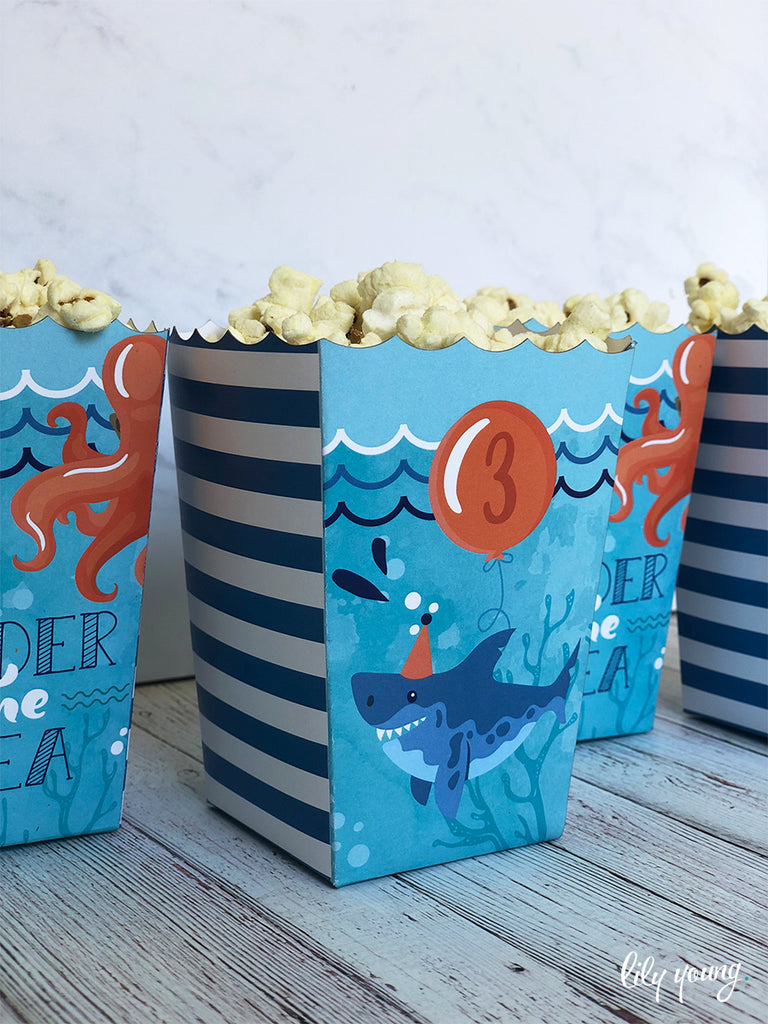 Under the sea Popcorn boxes - Pack of 12