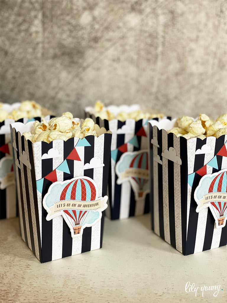 Up & Away Boy Popcorn boxes - Pack of 12