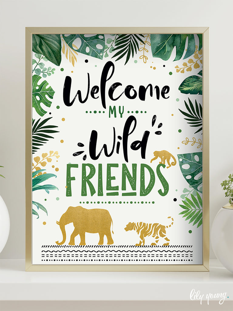 Wild One Welcome Sign - Pack of 1
