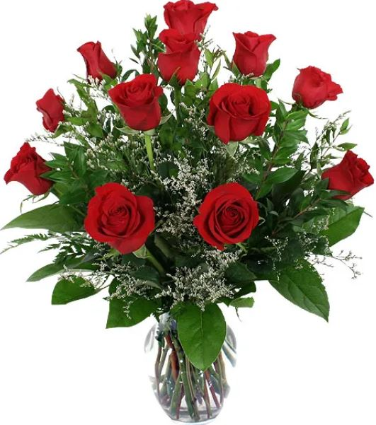 Order Flowers Valentines Day Chicago Red Roses Tall
