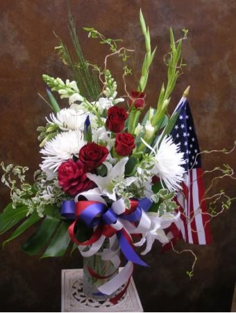 Patriot Funeral Flower Vase
