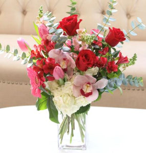 red roses bouquet orchids chicago il flower delivery 60634 60647 tulips same day flower delivery