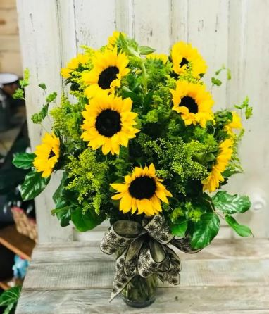 Sunflower Bouquet chicago flower delivery thanksgiving centerpiece flower delivery chicago 60634 60647