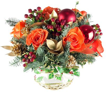 Christmas Flowers Christmas Centerpiece Christmas Arrangement