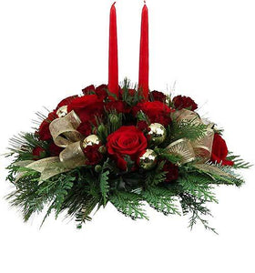 christmas flowers, christmas arrangement christmas centerpiece