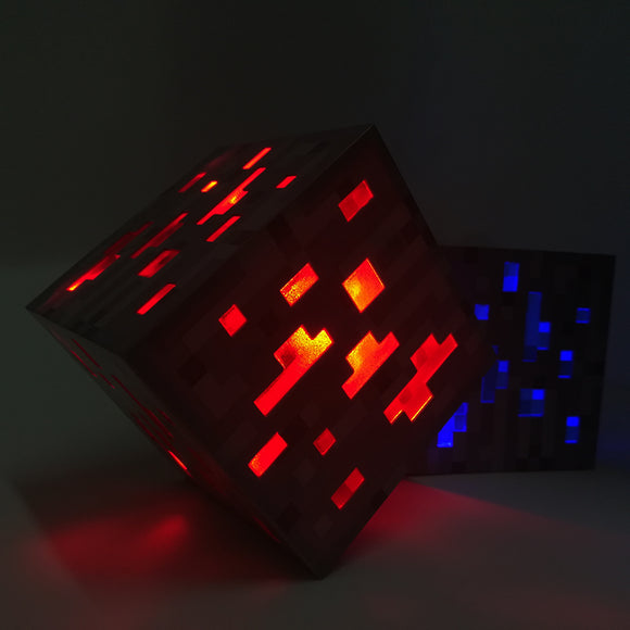 Redstone Ore - Minecraft Premium Light-Up Decoration Ore