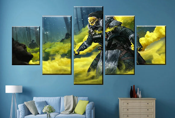 Caustic's Gas - Apex Legends Canvas Gamer Wall Poster