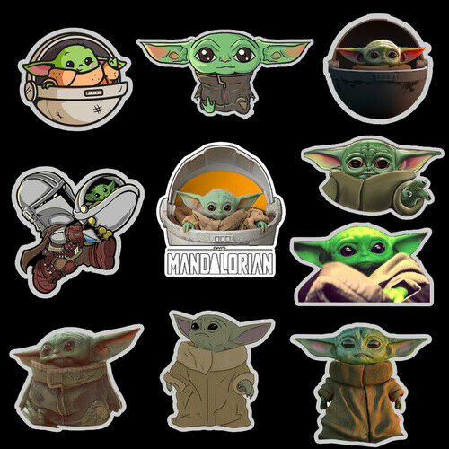 10 x - The Mandalorian Baby Yoda Stickers  *NEW* (December 2019)