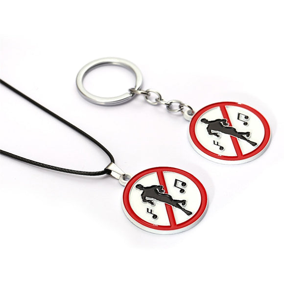 Fortnite No Dancing Sign Necklace