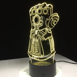 Thanos Gauntlet - Marvel Collectable Decoration LED Hologram