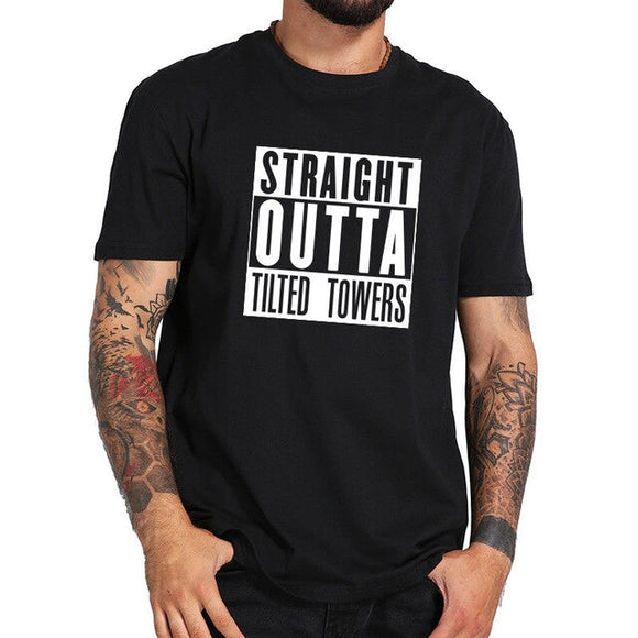 Straight Outta Tilted Towers - Premium Fortnite Gaming T-Shirt