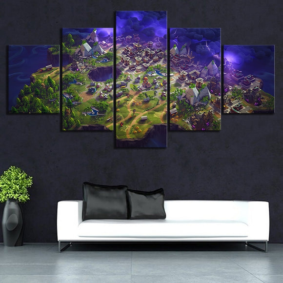 The Map - Fortnite Original Gaming Decoration Canvas