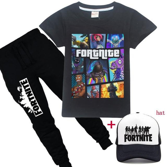 Fortnite GTA: Fortnite Kids Bundle - Pants + T-shirt & Cap