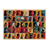 All Villains & Heroes - Premium Marvel Canvas Poster