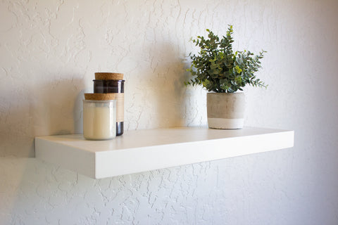 Solid White Floating Shelf