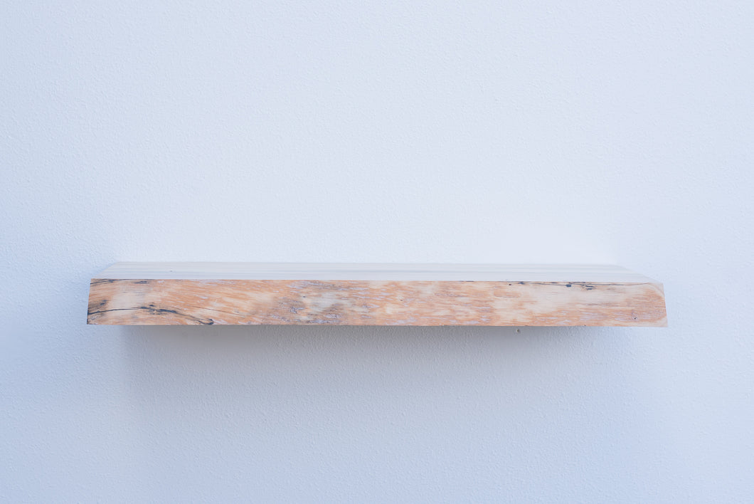 Live Edge Blue Pine Floating Shelf - Custom Sizes - 8-10