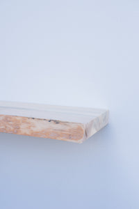 "Live Edge Blue Pine Floating Shelf - Custom Sizes - 8-10"" Deep - Add Desired Depth to Order Notes"