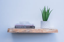 "Load image into Gallery viewer, Live Edge Blue Pine Floating Shelf - Custom Sizes - 8-10"" Deep - Add Desired Depth to Order Notes"