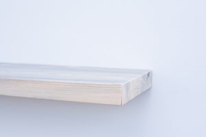 "Solid Blue Pine Floating Shelf - Custom Sizes - 8-10"" Deep - Add Desired Depth to Order Notes"