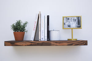 "Rustic Espresso Floating Shelf - up to 11"" Depth - Custom Sizes For Your Needs - Includes Sheppard Bracket & Hardware - Free Shipping"