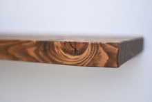 Load image into Gallery viewer, Rustic Dark Walnut Floating Shelf - Custom Sizes - Add Desired Depth to Order Notes