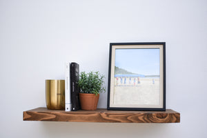 Rustic Dark Walnut Floating Shelf - Custom Sizes - Add Desired Depth to Order Notes