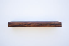 "Load image into Gallery viewer, Live Edge Walnut Floating Shelf - Custom Sizes - 8-10"" Deep - Add Desired Depth to Order Notes"