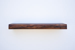 "Live Edge Walnut Floating Shelf - Custom Sizes - 8-10"" Deep - Add Desired Depth to Order Notes"