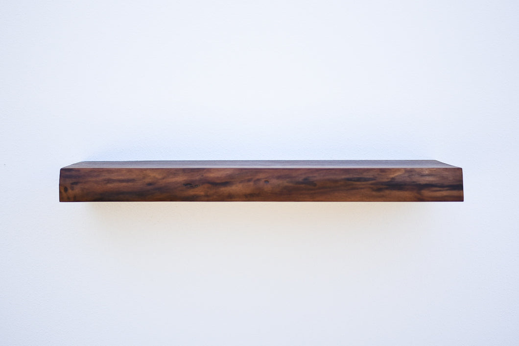 Live Edge Walnut Floating Shelf - Custom Sizes - 8-10
