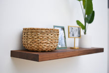 "Load image into Gallery viewer, Solid Walnut Floating Shelf 12"" Depth - Custom Sizes For Your Needs - Includes Sheppard Bracket & Hardware - 0 VOC Natural Finish - Free Shipping"
