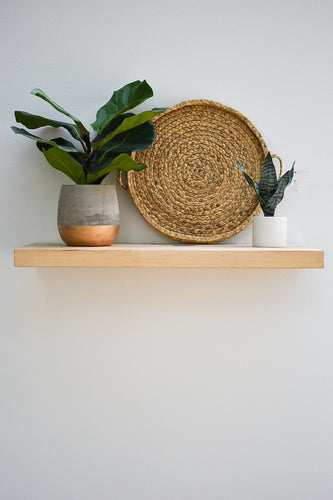 Solid Maple Floating Shelf - Custom Sizes - 8-10