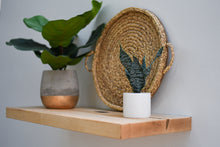 "Load image into Gallery viewer, Solid Maple Floating Shelf - Custom Sizes - 8-10"" Deep - Add Desired Depth to Order Notes"