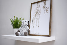 "Load image into Gallery viewer, Solid White Floating Shelf 10"" Depth - Custom Sizes For Your Needs - Includes Sheppard Bracket & Hardware - Free Shipping"