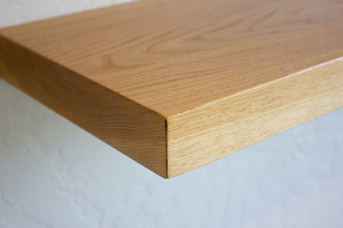 Solid White Oak Floating Shelf 12