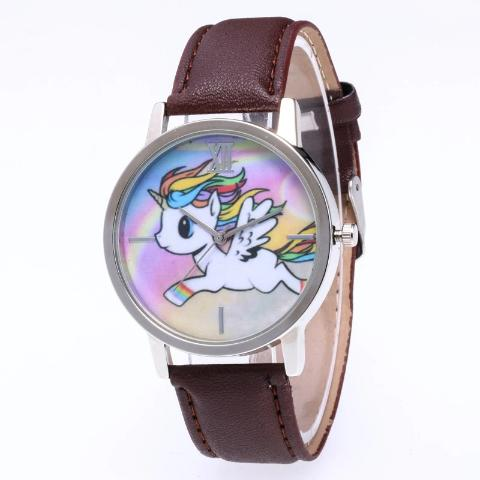 Montre Licorne Enfant marron brun