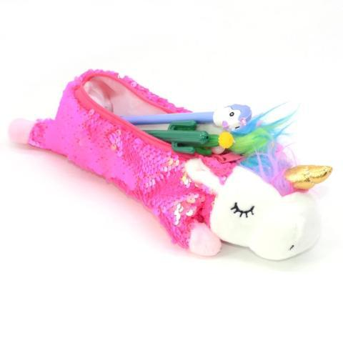 Trousse Licorne Kawaii rose