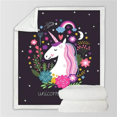 Plaid Couverture Licorne