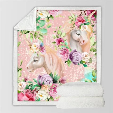 Plaid Licorne Enfant