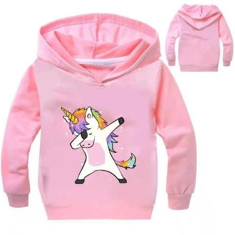 Sweat Licorne Dab Enfant rose