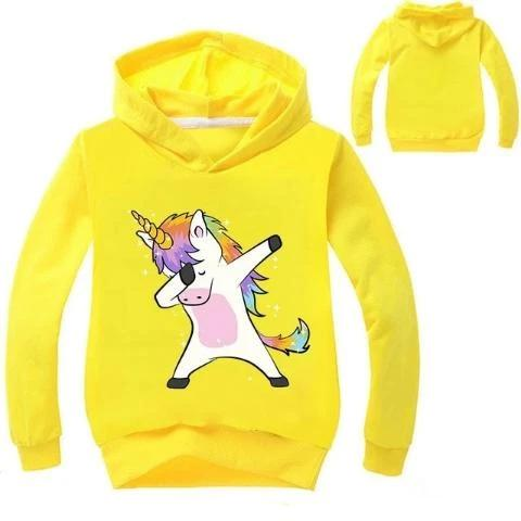 Sweat Licorne Dab Enfant jaune