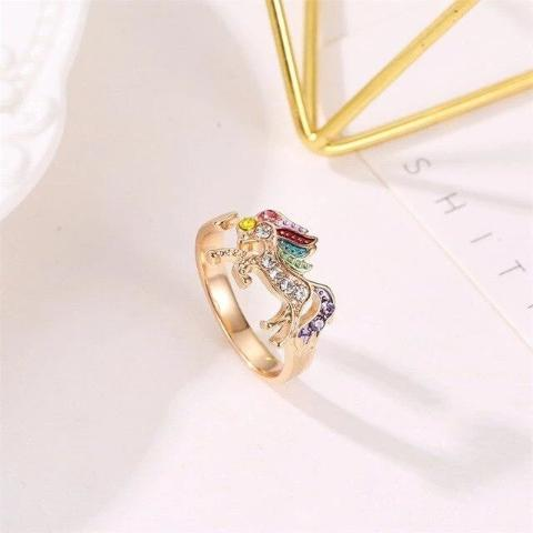 Bague Licorne or