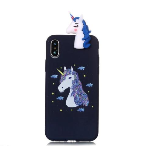 Coque iPhone Silicone Licorne