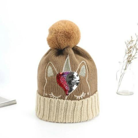Bonnet Licorne Adulte marron