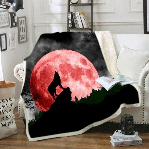 Couverture Loup lune rouge