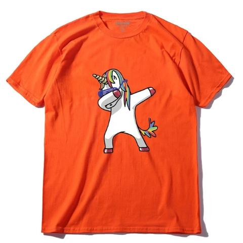 T-Shirt Dab Licorne Homme orange